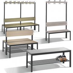 Sitz- & Garderobenbänke für Feuchträume Basic Plus