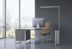LED Standleuchte aus Aluminium, silber oder weiss