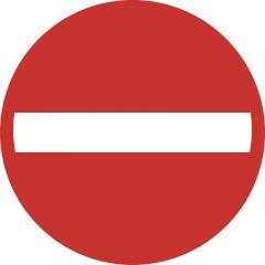 """Selbstklebender Leitsystem-Sticker """"Verbot"""" Verbot"""