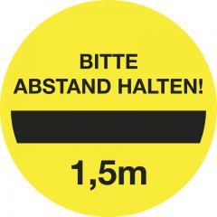 """Selbstklebender Leitsystem-Sticker """"Abstand"""" Abstand halten"""