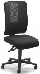 Bürodrehstuhl APERTO ohne Armlehnen Schwarz/Schwarz | mit Netzrücken