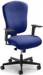 Bürodrehstuhl VOLA DV ohne Armlehnen mit Polsterrückenlehne
