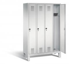 Garderoben-Stahlspinde Serie EVOLO mit Füßen