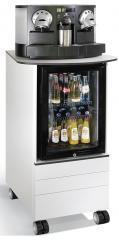 Mobile Hochcontainer zur Bewirtung, Kühlschrank Caddys