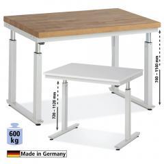 Arbeitstische SERIE E3 und E6 - Flächenlast bis 600 kg
