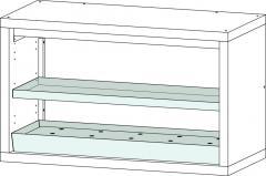 Lochblecheinsatz Stahlblech für Sicherheits-Unterbauschrank Typ 90