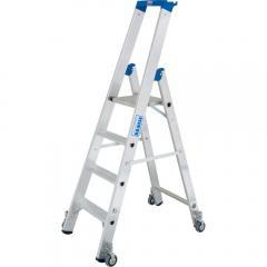 Stufen-Stehleiter Stabilo, Fahrbar
