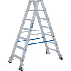 Stufen-Doppelleiter Stabilo, Fahrbar