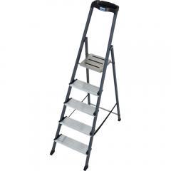Stufen-Stehleiter mit eloxierter Oberfläche