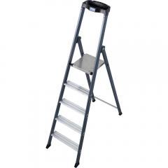 Stufen-Stehleiter eloxiert plus