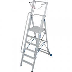 Stufen-Stehleiter Stabilo, mit großer Standplattform und Sicherheitsbügel