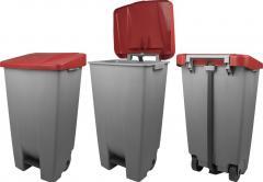 Tretabfallbehälter auf Rollen, 120 Liter