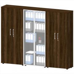 Schrankwand mit Garderobe MANAGEMENT 2 Wenge | Schrankwand mit Garderobe
