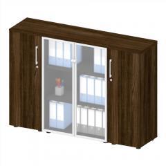 Sideboard mit Glastüren MANAGEMENT 2 Wenge | Sideboard mit Glastüren