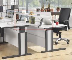 Zweite Ebene f. Schreibtisch MULTI MODUL Lichtgrau | 1600 | Zweite Ebene f. Schreibtisch