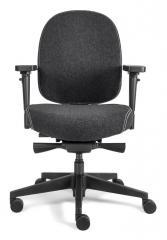 Bürodrehstuhl SenseFIT DV mit Armlehnen Anthrazit   Standard Rückenlehne, Polyamid-Fußkreuz schwarz