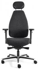 Bürodrehstuhl SenseFIT DV inkl. Armlehnen Anthrazit | Hohe Rückenlehne inkl. Kopfstütze