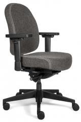 Bürodrehstuhl SenseFIT DV mit Armlehnen Grau   Standard Rückenlehne, Polyamid-Fußkreuz schwarz