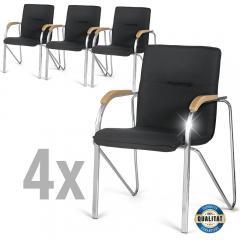 4 Konferenzstühle ARKAS im SET - Stoffbezug