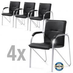 4 Konferenzstühle ARKAS im SET - Kunstleder