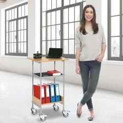 Fahrbarer Steh- und Arbeitstisch