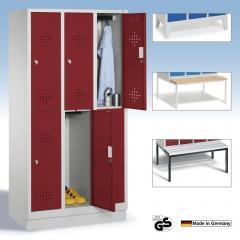Doppelstöckige Garderobenspinde mit Lüftung - CLASSIC