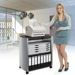 Bürowagen - mit 3 Fachböden für viel Stauraum