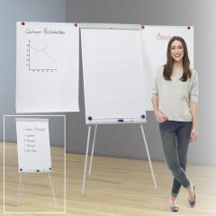 Flipcharts mit oder ohne Seitenarme, mit Dreibeinstativ