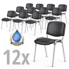 12 Besucherstühle ISO im SET - Kunstleder V