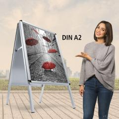 Plakatständer/Kundenstopper, wetterfest DIN A2