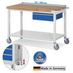 Mobile Werkbänke auf Rollen mit einer Schublade