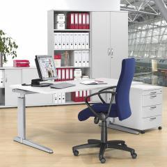 Schreibtische mit T-Fuß PROFI MODUL