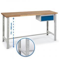 Werkbank WS PROFI mit einer Schublade - höheneinstellbar