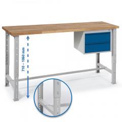 Werkbank WS PROFI mit zwei Schubladen - höheneinstellbar