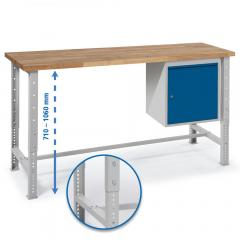 Werkbank WS PROFI mit Container + Tür - höheneinstellbar