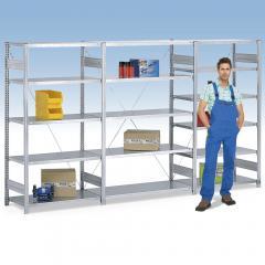 Steckregal ST 4000, Einseitige Nutzung, Böden bis 330kg