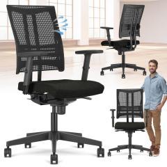 Bürodrehstuhl STAR NET mit Armlehnen Polyamid schwarz