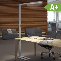 LED Aluminium Standleuchte silber oder weiss