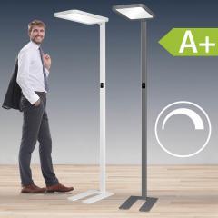 LED Stehleuchte aus Aluminium, weiss oder anthrazit