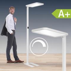 LED Tischaufbauleuchte aus Aluminium, weiss