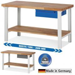 System Werkbänke mit 1 Schublade und 1 Ablageboden