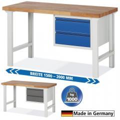 System Werkbänke mit 2 Schubladen