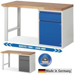 System Werkbänke mit 1 Schublade und 1 Flügeltür mit Fachboden