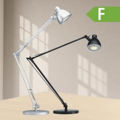 LED Schreibtischleuchte Alu, grosse Ausleuchtung