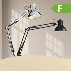 LED Schreibtischklemmleuchte, chrom oder schwarz