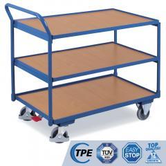Tischwagen mit erhöhtem Ergo-Schiebegriff, 2 / 3 Böden