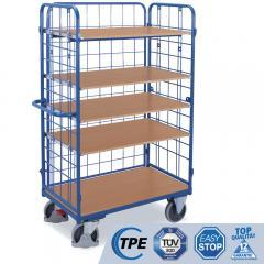 Etagenwagen, 1 flexible Längswand, 5 verstellbare Böden