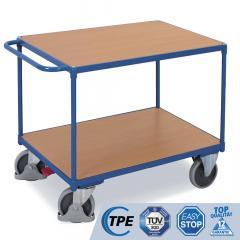 Tischwagen mit Schiebegriff, 2/3 Böden glatter Abschluss