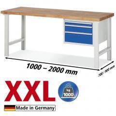 XXL-Werkbänke mit 3 Schubladen