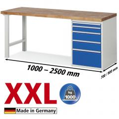XXL-Werkbänke mit 5 Schubladen